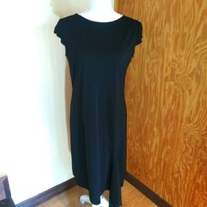 Kathie Lee Short Sleeve Little Black Dress EUC